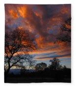 Sunset September 24 2013 Fleece Blanket