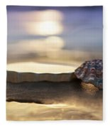 Sunset Shells Fleece Blanket