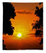 Sunset Silhouette By Diana Sainz Fleece Blanket