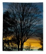 Sunset Silhouette Fleece Blanket