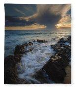 Sunset Spillway Fleece Blanket
