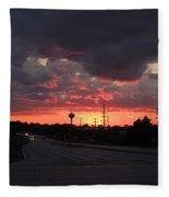 Black Cloud Cometh Fleece Blanket