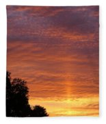 Sunset Sunburst Fleece Blanket