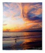 Sunset Surfing Fleece Blanket