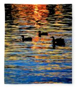 Sunset Swim Fleece Blanket