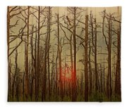 Sunset Thru The Pine Barrens Fleece Blanket