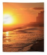 Sunset Towers Fleece Blanket