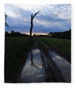 Sunset Treeflection Fleece Blanket