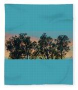 Sunset Trees Fleece Blanket