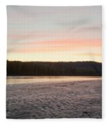 Sunset Twilight Over Taiga At Yukon River Canada Fleece Blanket