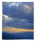 Sunset Under The Clouds Fleece Blanket