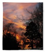 Sunset View From The Path Fleece Blanket