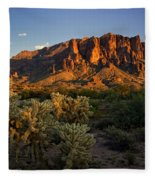 Sunset View Of The Superstitions  Fleece Blanket