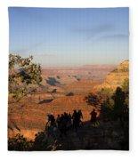 Sunset Vigil Grand Canyon Fleece Blanket