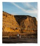 Sunset Walk At Flat Rock  La Jolla California Fleece Blanket