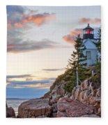 Sunset Watcher - Bass Harbor Head - Maine Fleece Blanket