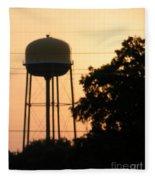 Sunset Water Tower Fleece Blanket