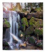 Sunset Waterfalls In Marlay Park Fleece Blanket