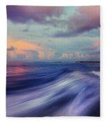 Sunset Wave. Maldives Fleece Blanket