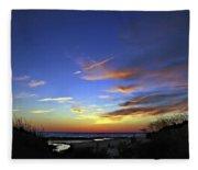Sunset X Fleece Blanket