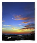 Sunset X Fleece Blanket