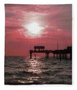 Sunsetting On The Gulf Fleece Blanket