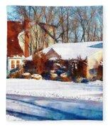 Sunshine After The Snow Fleece Blanket