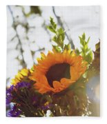 Sunshine And Sunflowers Fleece Blanket