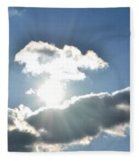 Sunshine Clouds Fleece Blanket