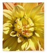 Sunshine Dahlia Fleece Blanket