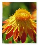 Sunshine Flowers Fleece Blanket