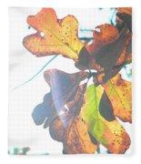 Sunshine Leaves Fleece Blanket