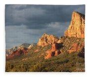 Sunshine On Sedona Rocks Fleece Blanket