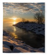 Sunshine On The Ice - Lake Ontario Toronto Canada Fleece Blanket