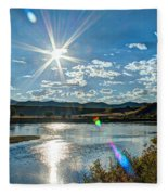Sunshine On The Missouri Fleece Blanket