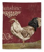 Sunshine Rooster Fleece Blanket