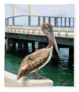 Sunshine Skyway And Pelican Fleece Blanket