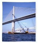 Sunshine Skyway Bridge Fleece Blanket