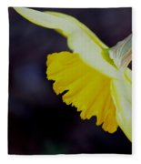 Sunshine Yellow Daffodil Fleece Blanket