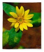 Sunshine Yellow Fleece Blanket