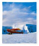 Super Cub Piper Bush Airplane Fleece Blanket