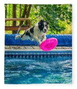 Super Dog 2 Fleece Blanket