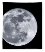 Super Moon Over Arizona  Fleece Blanket
