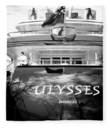 Super Yacht Ulisses Fleece Blanket