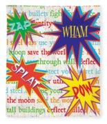 Superhero 1 Fleece Blanket by Debbie DeWitt