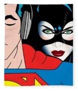 Superman And Catwoman  Fleece Blanket