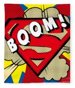 Superman Boom  Fleece Blanket