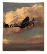 Supermarine Spitfire Mk Lfix  Fleece Blanket
