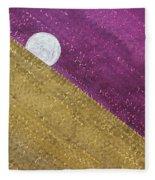 Supermoon Original Painting Fleece Blanket