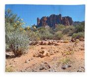 Superstition Mountains Fleece Blanket